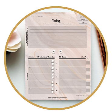 Daily Intentions To-Do Notepad | Sabbathing Rhythms Collection